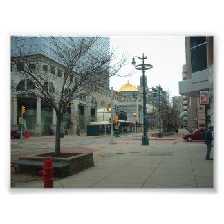 Downtown Buffalo NY at Main and W Chippewa Photo Print