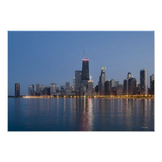 Downtown Chicago Skyline Poster