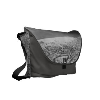 Downtown Cleveland in 1937 Messenger Bags