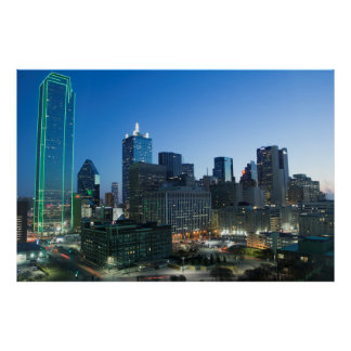 Downtown Dallas in early morning. Poster