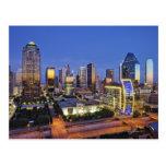 downtown dallas skyline postcards