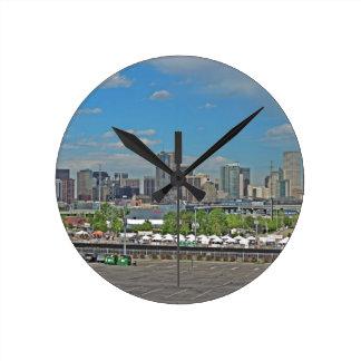 Downtown Denver Colorado City Skyline Clock