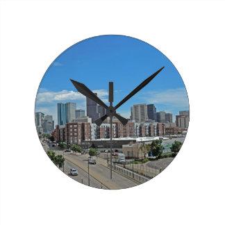 Downtown Denver Colorado City Skyline copy.jpg Wall Clocks