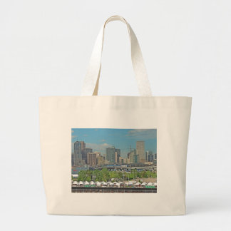Downtown Denver Colorado City Skyline Large Tote Bag