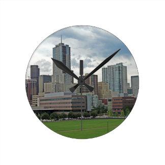 Downtown Denver Colorado City Skyline Wall Clock