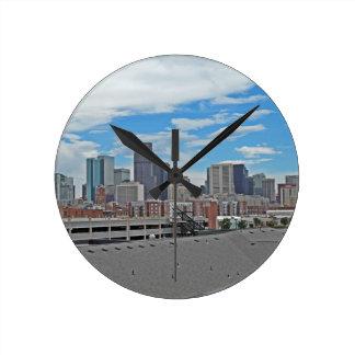 Downtown Denver Colorado City Skyline Wallclock