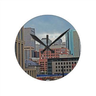 Downtown Denver Colorado Skyline Wall Clock