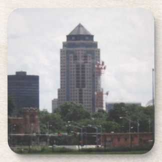 Downtown Des Moines, Iowa Cork Coasters