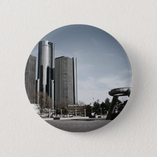 Downtown Detroit 2 Inch Round Button