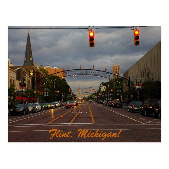 Downtown Flint, Michigan Postcard