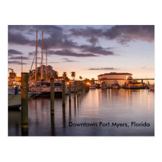 Downtown Fort Myers, Florida Postcard