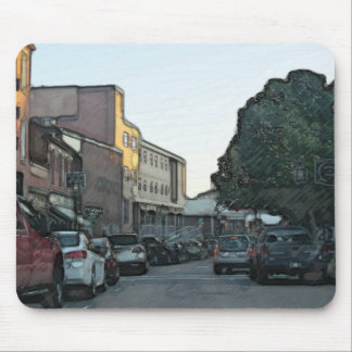 Downtown Gloucester Cityscape Mouse Pad