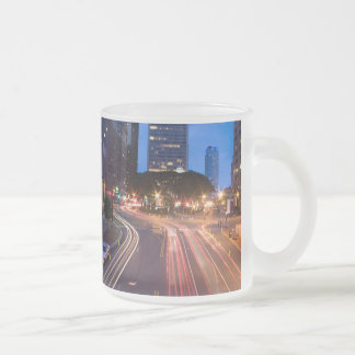 Downtown Hartford CT Frosted Glass Coffee Mug