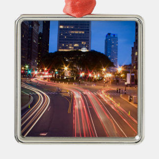 Downtown Hartford CT Metal Ornament