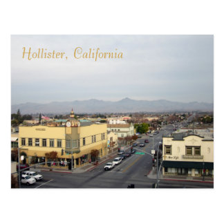 Downtown Hollister, California Postcard