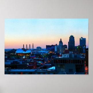 Downtown Kansas City at Sunset Poster