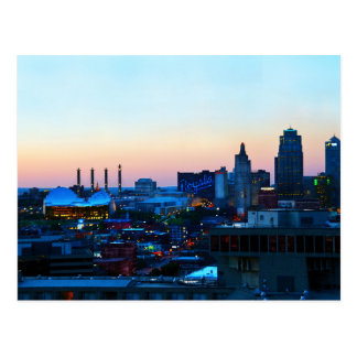 Downtown Kansas City, Missouri, at Sunset Postcard