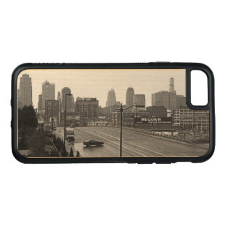 Downtown Kansas City on Natural Wood Carved iPhone 8/7 Case