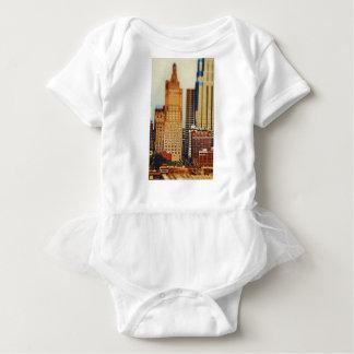 Downtown Kansas City Tilt-Shift, Paint Effect Baby Bodysuit