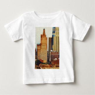 Downtown Kansas City Tilt-Shift, Paint Effect Baby T-Shirt