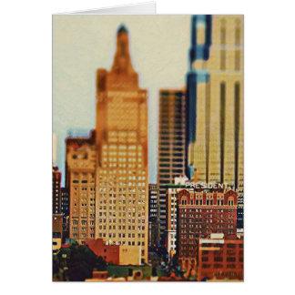Downtown Kansas City Tilt-Shift, Paint Effect Card