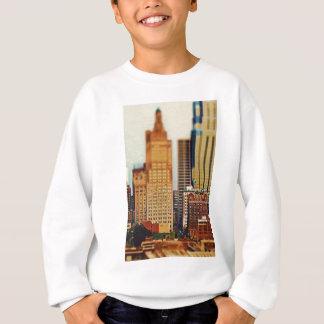 Downtown Kansas City Tilt-Shift, Paint Effect Sweatshirt