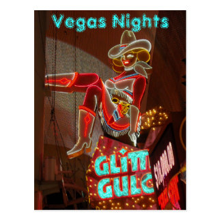 Downtown Las Vegas Nights Postcard
