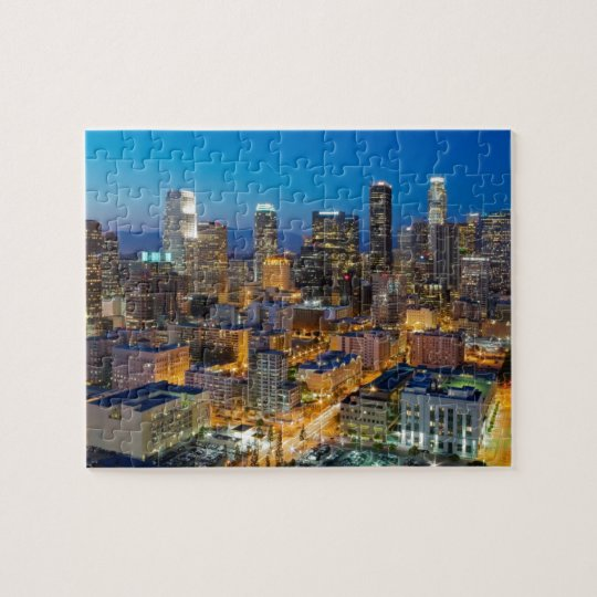 Downtown Los Angeles at Dusk Jigsaw Puzzle