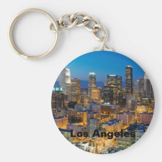 Downtown Los Angeles at Dusk Keychain