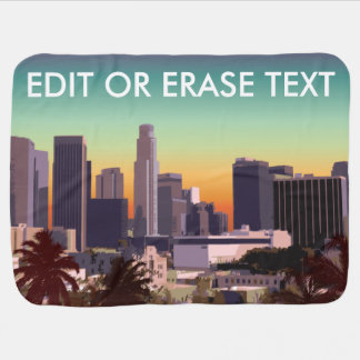 Downtown Los Angeles - Customizable Image Baby Blanket