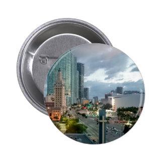 Downtown Miami 2 Inch Round Button