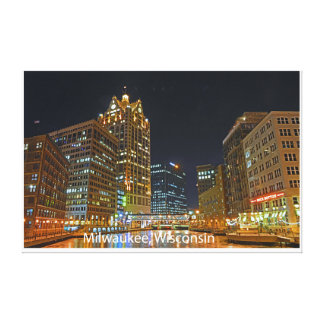 Downtown Milwaukee Gallery Wrap Canvas