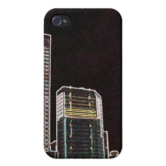 Downtown Montreal Night Covers For iPhone 4