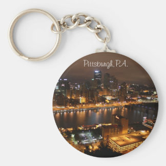 Downtown Pittsburgh, PA. Basic Round Button Keychain