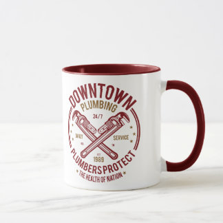 Downtown Plumbing Daily Service 24/7 Plumber Mug