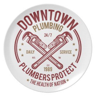 Downtown Plumbing Daily Service 24/7 Plumber Plate