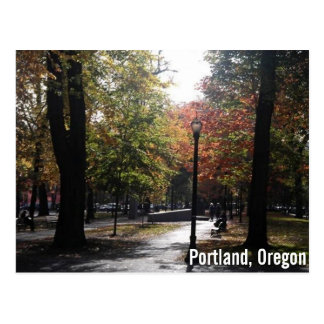 Downtown Portland, PSU Parkblocks Postcard