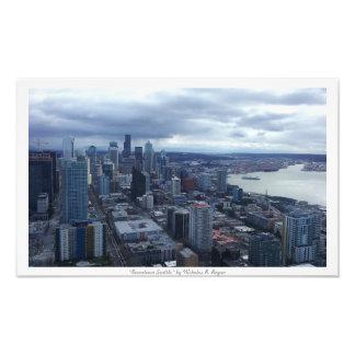 """""""Downtown Seattle"""" City Decor Photo Prints"""