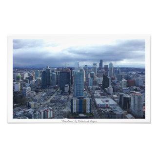 """""""Downtown"""" Seattle City Decor Photo Prints"""