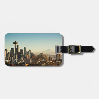 Downtown Seattle skyline and Space Needle Luggage Tag