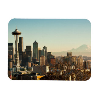 Downtown Seattle skyline and Space Needle Magnet