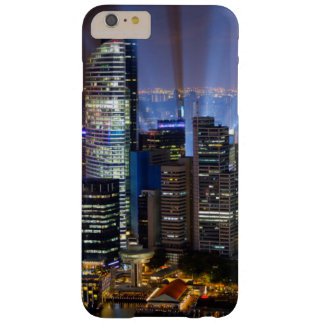 Downtown Singapore city at night Barely There iPhone 6 Plus Case