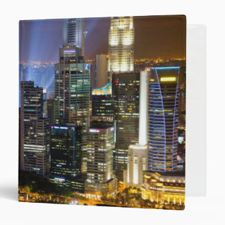 Downtown Singapore city at night Binders