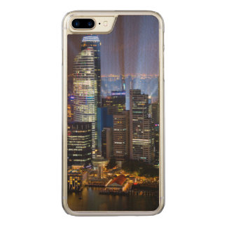 Downtown Singapore city at night Carved iPhone 7 Plus Case