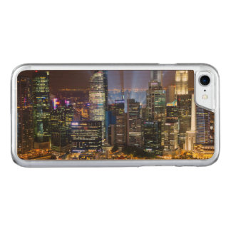 Downtown Singapore city at night Carved iPhone 8/7 Case