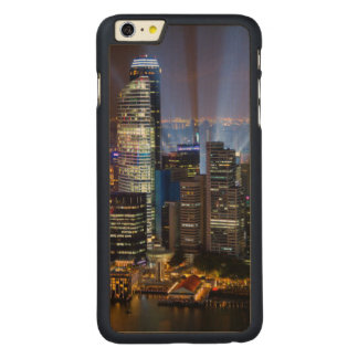 Downtown Singapore city at night Carved® Maple iPhone 6 Plus Case