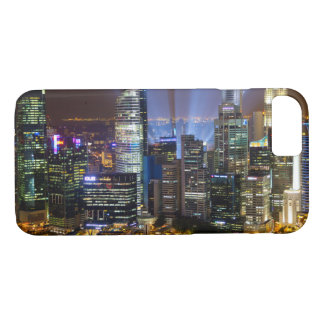 Downtown Singapore city at night iPhone 8/7 Case