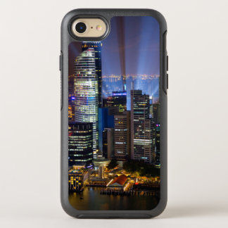 Downtown Singapore city at night OtterBox Symmetry iPhone 7 Case
