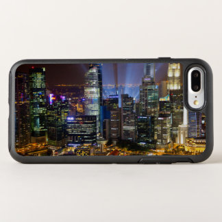 Downtown Singapore city at night OtterBox Symmetry iPhone 7 Plus Case