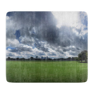Downtown Skyline Over Zilker Park 2 - Austin - Tex Cutting Board